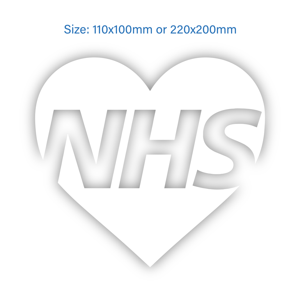 NHS Heart Decal