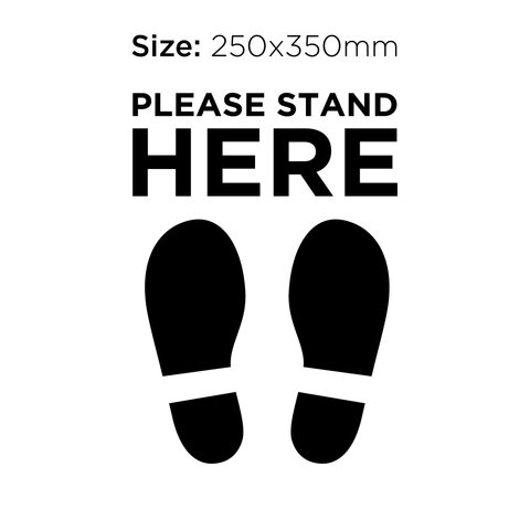 Please Stand Here - Social Distancing Signage