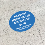 Please Keep Your Distance - Social Distancing Signage (BLUE)