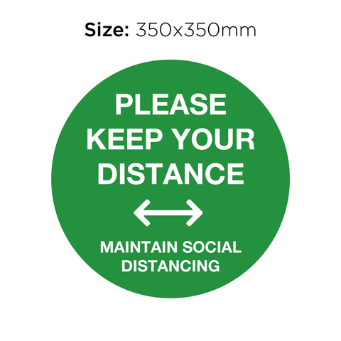 Please Keep Your Distance - Social Distancing Signage (GREEN)