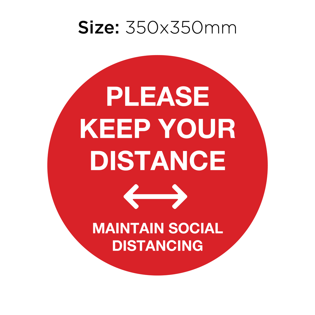 Please Keep Your Distance - Social Distancing Signage (RED)