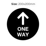 One Way Arrow - Social Distancing Signage