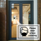 Face Covering - Social Distancing Signage (Type 1)