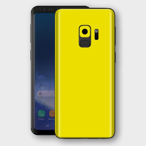 Samsung Galaxy S9 - Gloss Lemon Yellow Skin
