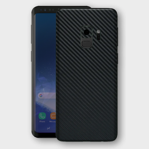 Samsung Galaxy S9+ Plus - Textured Black Carbon Fibre Skin