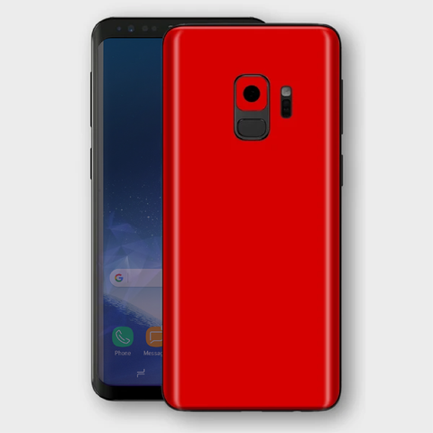 Samsung Galaxy S9 - Matt HotRod Red Skin