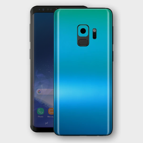 Samsung Galaxy S9 - Matt Caribbean Teal Metallic (Chameleon Colourflow) Skin