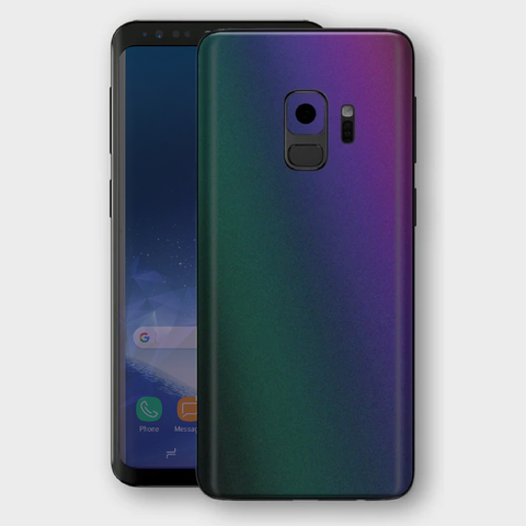 Samsung Galaxy S9 - Matt Green Purple Lightning Metallic (Chameleon Colourflow) Skin