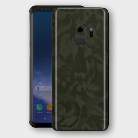 Samsung Galaxy S9 - Textured Military Green Camo Skin
