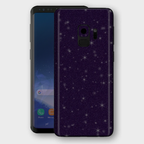 Samsung Galaxy S9 - Gloss Diamond Dark Purple Skin