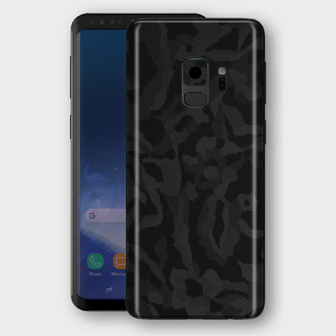 Samsung Galaxy S9 - Textured Shadow Black Camo Skin