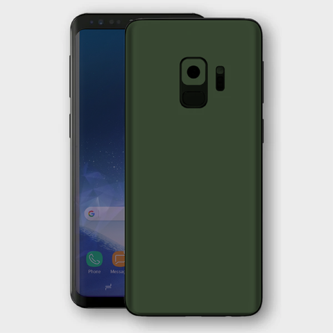 Samsung Galaxy S9 - Matt Military Green Skin