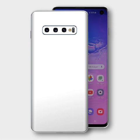Samsung Galaxy S10+ Plus - Matt White Skin