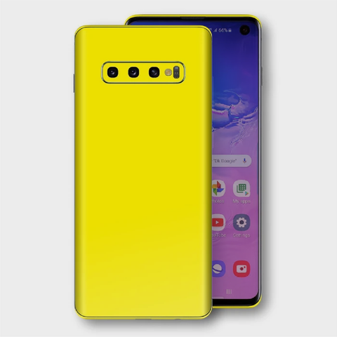 Samsung Galaxy S10+ Plus - Gloss Lemon Yellow Skin