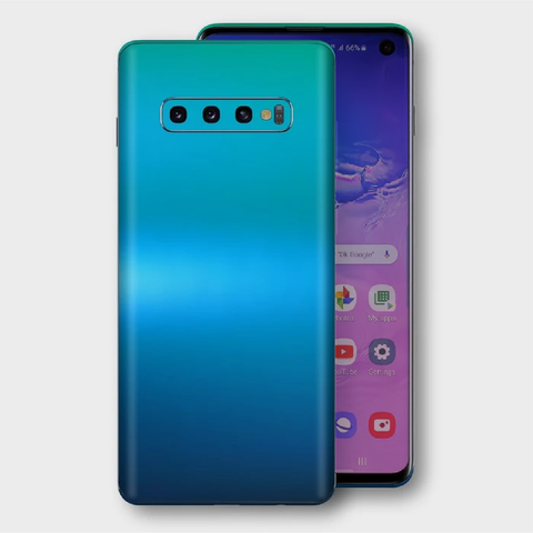Samsung Galaxy S10+ Plus - Matt Caribbean Teal Metallic (Chameleon Colourflow) Skin