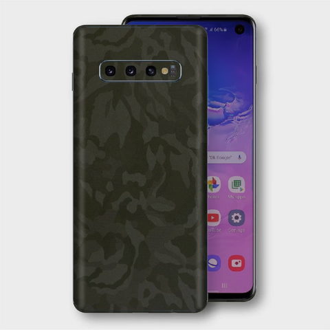 Samsung Galaxy S10+ Plus - Textured Military Green Camo Skin