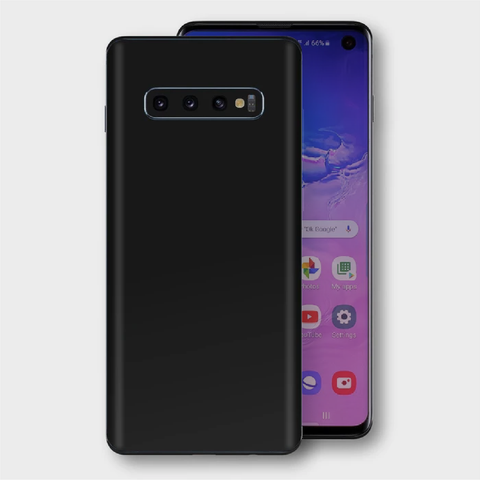 Samsung Galaxy S10+ Plus - Matt Black Skin