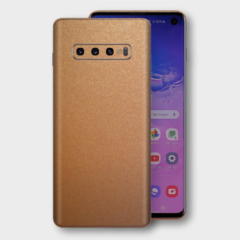 Samsung Galaxy S10+ Plus - Matt Copper Metallic Skin