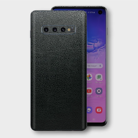 Samsung Galaxy S10+ Plus - Textured Crocodile Black Skin