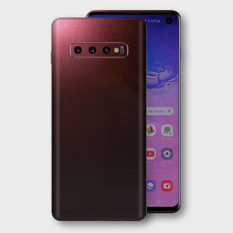 Samsung Galaxy S10+ Plus - Gloss Black Rose Metallic Skin