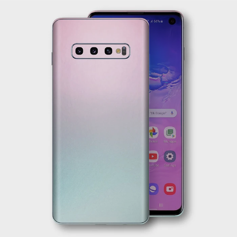 Samsung Galaxy S10+ Plus - Gloss Ghost Pearl Metallic (Chameleon Colourflow) Skin