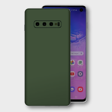 Samsung Galaxy S10+ Plus - Matt Military Green Skin