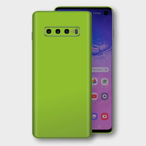 Samsung Galaxy S10+ Plus - Matt Apple Green Skin