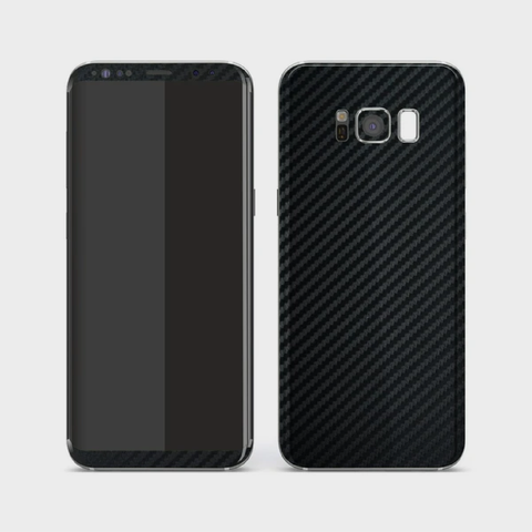 Samsung Galaxy S8 - Textured Black Carbon Fibre Skin