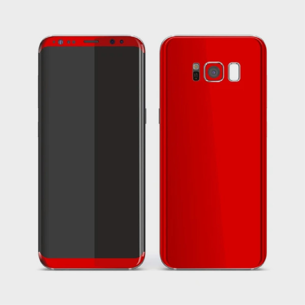 Samsung Galaxy S8+ Plus - Matt HotRod Red Skin