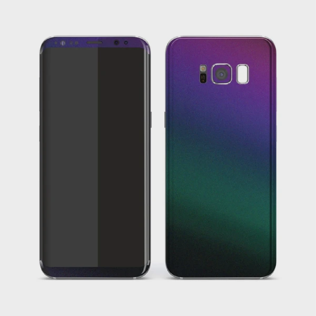 Samsung Galaxy S8 - Matt Green Purple Lightning Metallic (Chameleon Colourflow) Skin