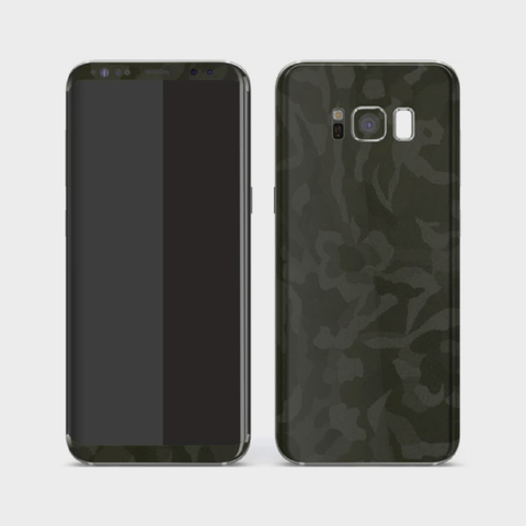 Samsung Galaxy S8+ Plus - Textured Military Green Camo Skin