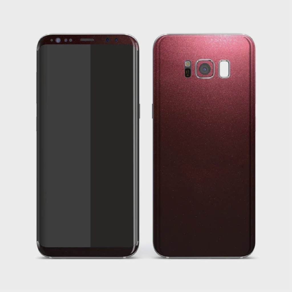 Samsung Galaxy S8 - Gloss Black Rose Metallic Skin