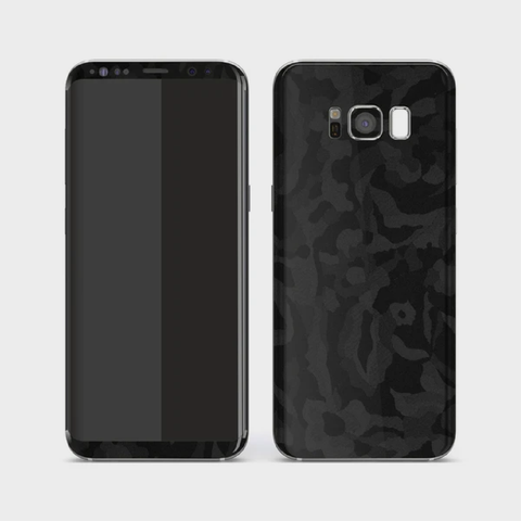 Samsung Galaxy S8+ Plus - Textured Shadow Black Camo Skin