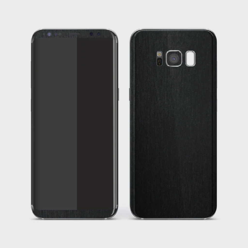 Samsung Galaxy S8 - Brushed Black Metallic Skin