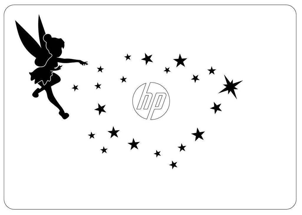 Tink and Stars Custom Macbook Decal