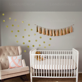 Gold Dots Wall Decal