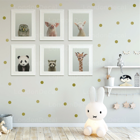 Gold Polka Dots Wall Decal