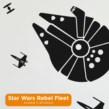 Star Wars Rebel Fleet Wall Decal