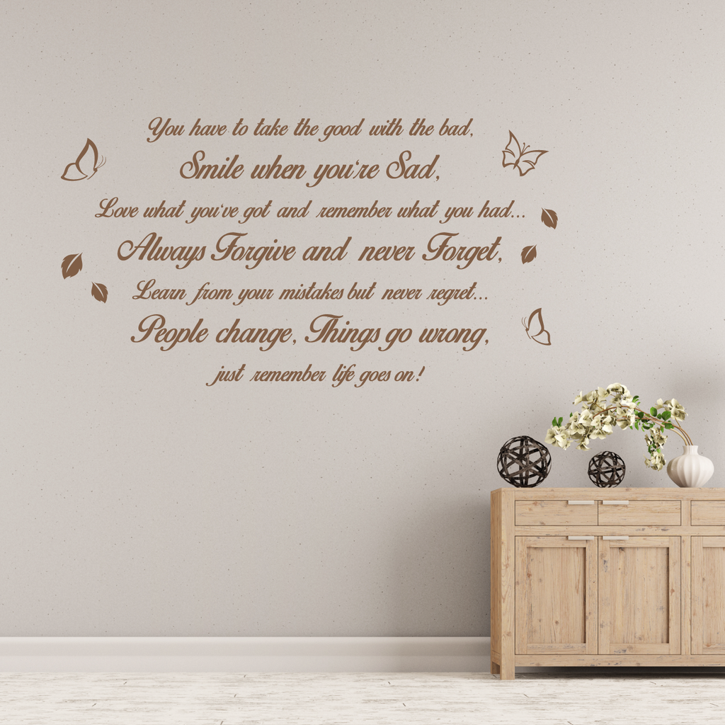 Life Goes On Wall Decal