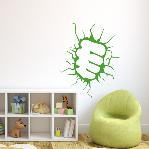 Incredible Hulk Fist Wall Decal