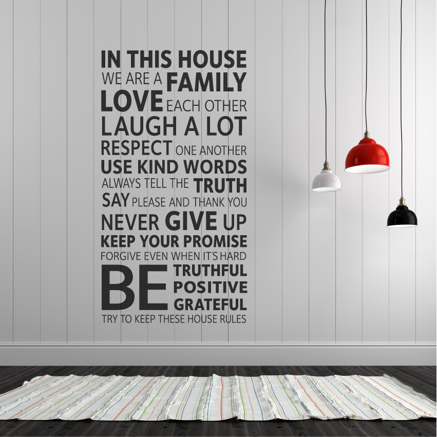 house rules wall vinyl decal sticker - londondecal