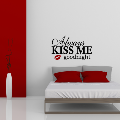 Kiss Me Goodnight Wall Decal