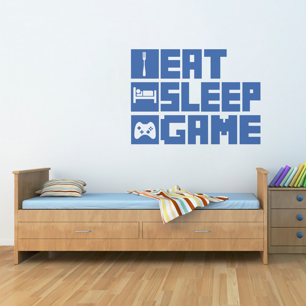 Eat, Sleep, Game Wall Decal