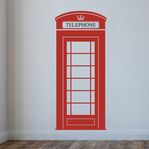 London Phone Box Wall Decal