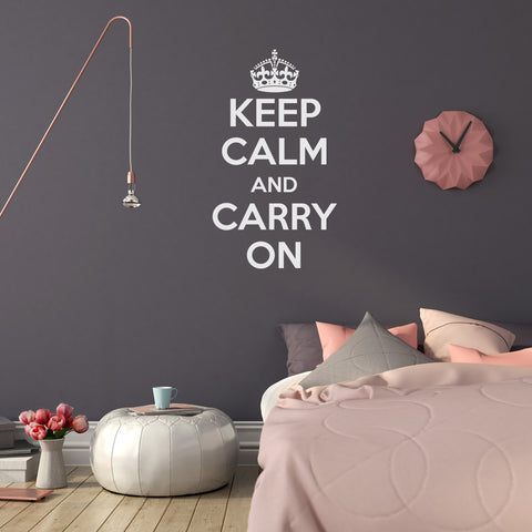 Keep Calm and Carry On Wall Decal
