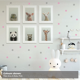 Polka Dots Mixed Colour Wall Decal