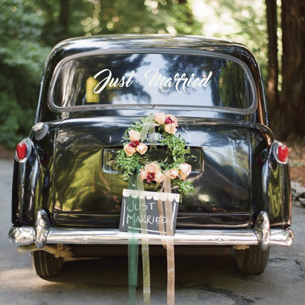 Just Married Car Decal