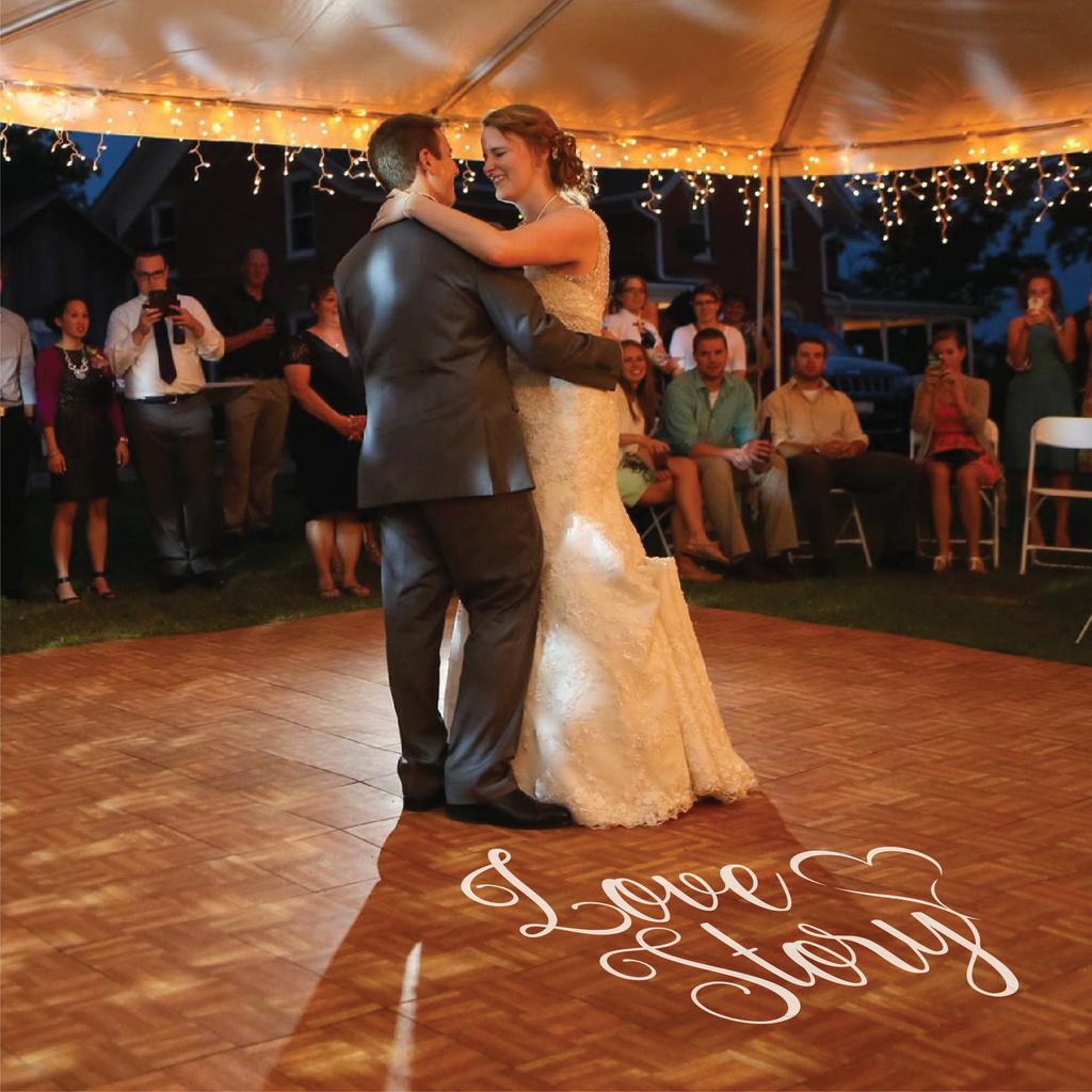 Love Story Wedding Floor Decal