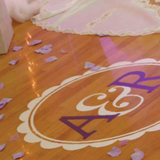 Dance Floor Wedding Decal - Initials