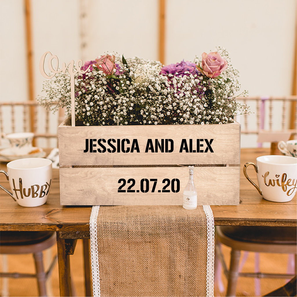 Personalised Name and Date Wedding Decal Type 1
